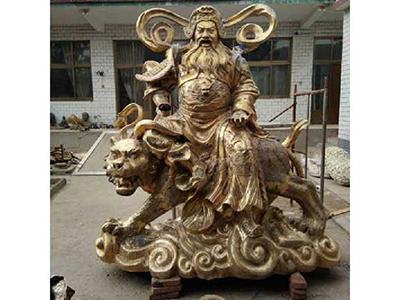 XFGS2409-铜雕关公像_关二爷铜像_武
