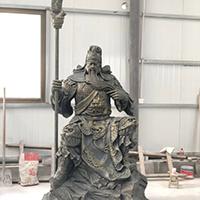 XFGS2423-铜雕关公像_关二爷铜像_武财神铜雕像公司