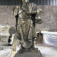 XFGS2424-铜雕关公像_关二爷铜像_武财神铜雕像供应