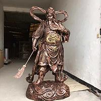 XFGS2428-铜雕关公像_关二爷铜像_武财神铜雕像厂