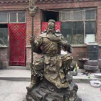 XFGS2429-铜雕关公像_关二爷铜像_武财神铜雕像定制