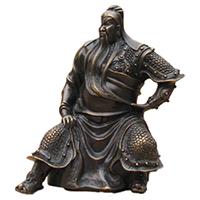 XFGS2430-铜雕关公像_关二爷铜像_武财神铜雕像报价