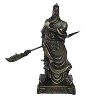 XFGS2431-铜雕关公像_关二爷铜像_武财神铜雕像价格