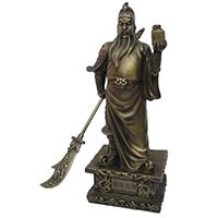 XFGS2432-铜雕关公像_关二爷铜像_武财神铜雕像制作