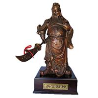 XFGS2433-铜雕关公像_关二爷铜像_武财神铜雕像哪家好