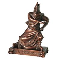 XFGS2434-铜雕关公像_关二爷铜像_武财神铜雕像哪里有