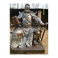 XFGS2438-铜雕关公像_关二爷铜像_武财神铜雕像公司