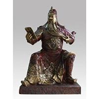XFGS2439-铜雕关公像_关二爷铜像_武财神铜雕像供应