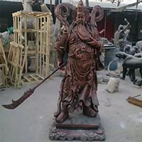 XFGS2441-铜雕关公像_关二爷铜像_武财神铜雕像厂家