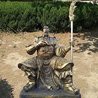 XFGS2442-铜雕关公像_关二爷铜像_武财神铜雕像厂