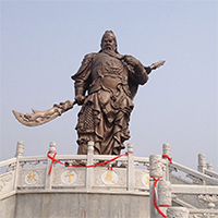 XFGS2443-铜雕关公像_关二爷铜像_武财神铜雕像定制