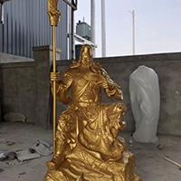 XFGS2444-铜雕关公像_关二爷铜像_武财神铜雕像设计