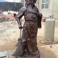 XFGS2445-铜雕关公像_关二爷铜像_武财神铜雕像报价