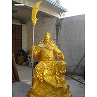 XFGS2449-铜雕关公像_关二爷铜像_武财神铜雕像哪里有