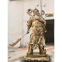 XFGS2451-铜雕关公像_关二爷铜像_武财神铜雕像生产厂家