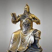 XFGS2452-铜雕关公像_关二爷铜像_武财神铜雕像公司