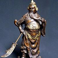 XFGS2454-铜雕关公像_关二爷铜像_武财神铜雕像加工