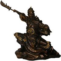 XFGS2455-铜雕关公像_关二爷铜像_武财神铜雕像加工厂