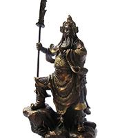 XFGS2456-铜雕关公像_关二爷铜像_武财神铜雕像厂家