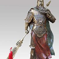 XFGS2457-铜雕关公像_关二爷铜像_武财神铜雕像厂