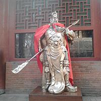 XFGS2458-铜雕关公像_关二爷铜像_武财神铜雕像定制