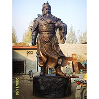 XFGS2460-铜雕关公像_关二爷铜像_武财神铜雕像价格