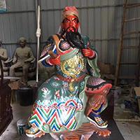 XFGS2463-铜雕关公像_关二爷铜像_武财神铜雕像哪里有