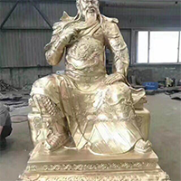 XFGS2464-铜雕关公像_关二爷铜像_武财神铜雕像多少钱