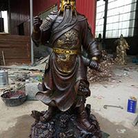 XFGS2467-铜雕关公像_关二爷铜像_武财神铜雕像公司