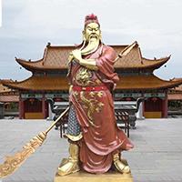 XFGS2469-铜雕关公像_关二爷铜像_武财神铜雕像加工