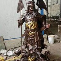 XFGS2470-铜雕关公像_关二爷铜像_武财神铜雕像厂家