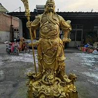 XFGS2471-铜雕关公像_关二爷铜像_武财神铜雕像厂