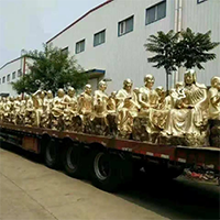 XFGS2538-铜雕十八罗汉制作厂家