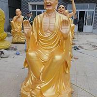 XFGS2544-铜雕十八罗汉厂