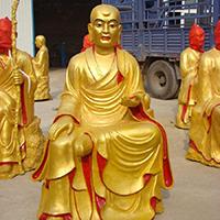 XFGS2572-铜雕十八罗汉厂家