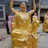 XFGS2573-铜雕十八罗汉厂