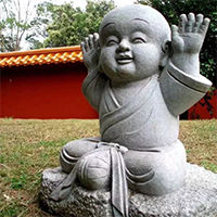 XFGS2654-小和尚石雕塑像_小沙弥石雕像制作厂家