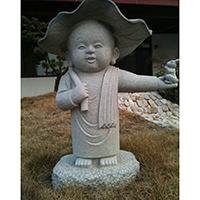 XFGS2659-小和尚石雕塑像_小沙弥石雕像加工厂
