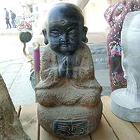 XFGS2663-小和尚石雕塑像_小沙弥石雕像报价
