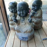 XFGS2665-小和尚石雕塑像_小沙弥石雕像制作