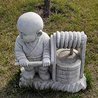 XFGS2671-小和尚石雕塑像_小沙弥石雕像供应