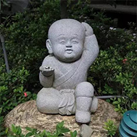 XFGS2679-小和尚石雕塑像_小沙弥石雕像价格
