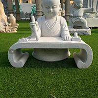 XFGS2685-小和尚石雕塑像_小沙弥石雕像公司