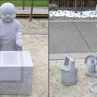 XFGS2688-小和尚石雕塑像_小沙弥石雕像加工厂