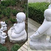 XFGS2692-小和尚石雕塑像_小沙弥石雕像报价