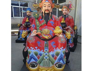 XFGS2727-彩绘神像雕塑制作厂家