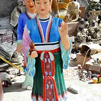 XFGS2764-彩绘神像雕塑设计