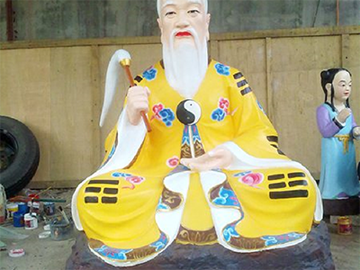 XFGS2803-彩绘神像雕塑加工