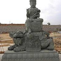 XFGS314-大智文殊菩萨石雕塑像供应