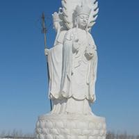 XFGS316-地藏菩萨石雕站像加工厂